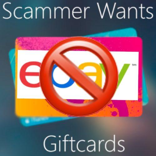 New eBay Gift Card Scam